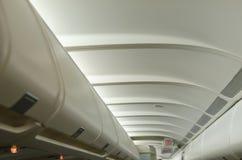 Espacio del equipaje del aeroplano Fotos de archivo libres de regalías