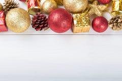 Espacio del juguete de la Navidad para el texto Imagenes de archivo