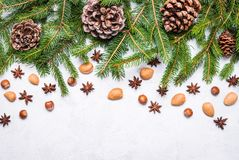 Espacio del texto del fondo de los días de fiesta de la Navidad Imágenes de archivo libres de regalías