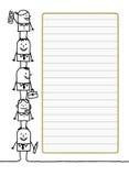 Espacio del trabajo en equipo y de las notas stock de ilustración