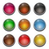 Espacio en blanco, botones de cristal del Web Fotos de archivo libres de regalías