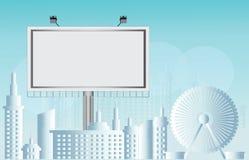 Espacio en blanco comercial del anuncio de la cartelera Imagenes de archivo