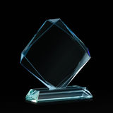 Espacio en blanco cristalino para el premio en negro foto de archivo libre de regalías