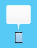 Espacio en blanco de la burbuja del discurso del teléfono libre illustration