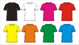 03 Espacio en blanco de la camiseta de la plantilla, vector Imagen de archivo libre de regalías