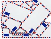 Espacio en blanco de la carta del envelopemnt Imagenes de archivo