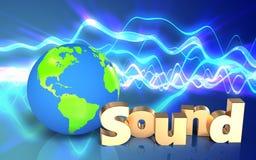 espacio en blanco de la muestra del 'sonido 3d' Imagenes de archivo