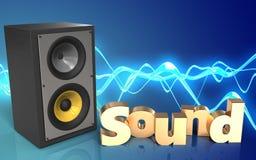 espacio en blanco de la muestra del 'sonido 3d' Imagen de archivo libre de regalías