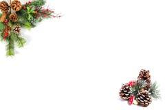 Espacio en blanco de la Navidad para sus propias palabras Foto de archivo