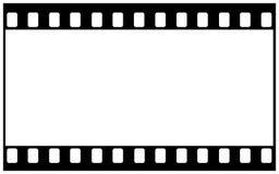 espacio en blanco de la película de 35m m para la imagen amplia Imagen de archivo libre de regalías