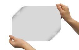 Espacio en blanco de la tarjeta Foto de archivo