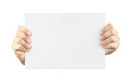Espacio en blanco de la tarjeta adentro Imagen de archivo libre de regalías