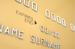 Espacio en blanco de la tarjeta de crédito bancaria Imagen de archivo libre de regalías