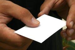 Espacio en blanco de la tarjeta de visita Fotos de archivo libres de regalías