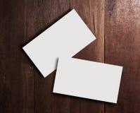 Espacio en blanco de la tarjeta de visita con aún tono de madera de la vida Fotografía de archivo libre de regalías