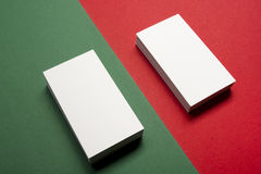 Espacio en blanco de la tarjeta de visita sobre fondo abstracto colorido Maqueta de marcado en caliente de los efectos de escrito Fotos de archivo libres de regalías
