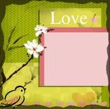 Espacio en blanco de la tarjeta del deseo del amor Imagen de archivo libre de regalías