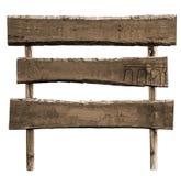Espacio en blanco de madera de las muestras del poste indicador aislado Imagen de archivo
