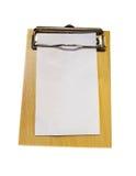 Espacio en blanco de madera del Libro Blanco de la bandeja del dinero de Bill Fotografía de archivo