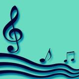 Espacio en blanco de papel musical Foto de archivo