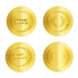 Espacio en blanco de /Stamp /Medal del sello del oro Fotos de archivo libres de regalías