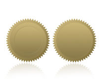 Espacio en blanco de /Stamp /Medal del sello del oro Fotos de archivo