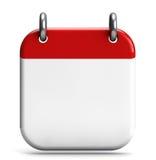 Espacio en blanco del calendario Imágenes de archivo libres de regalías
