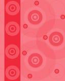 Espacio en blanco del color de rosa con los discos Fotos de archivo libres de regalías