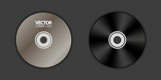 Espacio en blanco del DVD - Front And Back - ejemplo del vector - aislado en fondo negro ilustración del vector