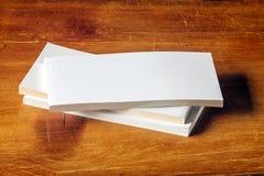 Espacio en blanco del libro de la postal Imagen de archivo libre de regalías