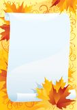 Espacio en blanco del otoño Foto de archivo