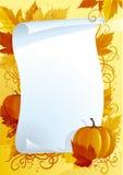 Espacio en blanco del otoño para la acción de gracias Foto de archivo