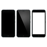 Espacio en blanco elegante del teléfono Smartphone con la exhibición en blanco Fotos de archivo libres de regalías