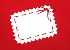 Espacio en blanco en rojo Fotos de archivo