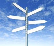 Espacio en blanco múltiple del poste indicador de la calle Imágenes de archivo libres de regalías