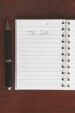 Espacio en blanco para hacer la lista Foto de archivo libre de regalías