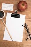 Espacio en blanco para hacer la lista Fotos de archivo libres de regalías