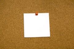 Espacio en blanco pegajoso de la nota Fotografía de archivo libre de regalías