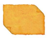 Espacio en blanco. Un papiro viejo. Foto de archivo