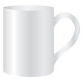 Espacio en blanco vacío de la taza blanca para el café o el té Imagenes de archivo