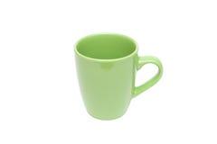 Espacio en blanco vacío de la taza verde Fotos de archivo