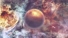 Espacio exterior profundo con la nebulosa ilustración del vector
