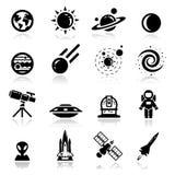 Espacio fijado iconos Foto de archivo