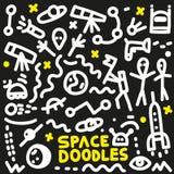 Espacio - garabatos fijados Imagen de archivo libre de regalías