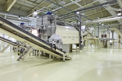 Espacio industrial - planta de fabricación Imagen de archivo libre de regalías