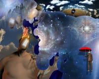 Espacio interno Imagenes de archivo