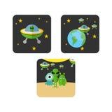 Espacio Logo Template Fotografía de archivo libre de regalías