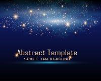 Espacio mágico Infinito de hadas del polvo Fondo abstracto del universo ilustración del vector