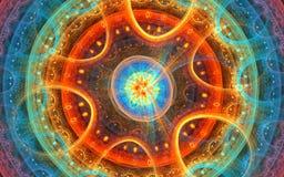 Espacio micro: fondo del fractal Imagenes de archivo