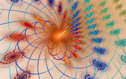 Espacio micro: fondo del fractal Fotografía de archivo libre de regalías